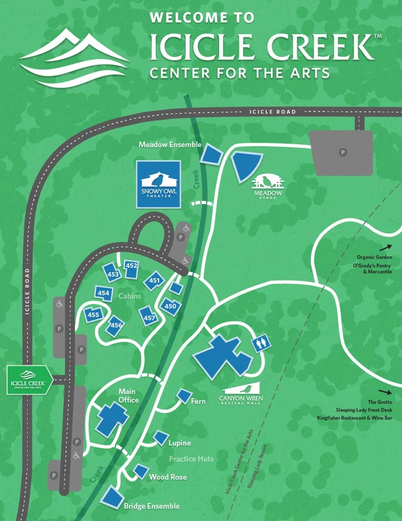 Icicle Creek Center for the Arts Campus map